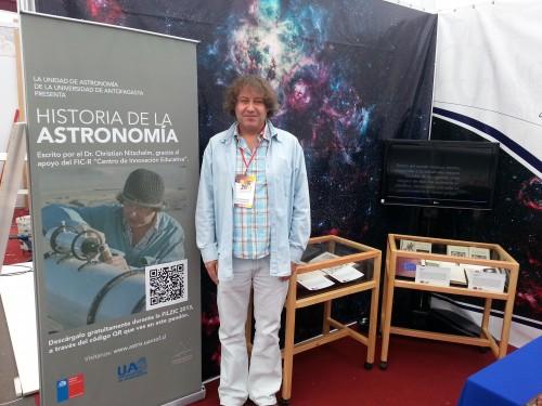 Christian Nitschelm presenta libro de Historia de la Astronomía en FILZIC.