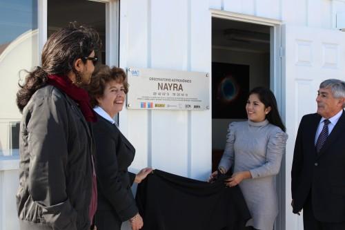 Inauguración de Observatorio Nayra