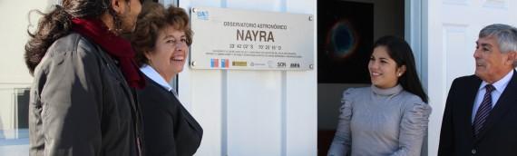 Inaugurado el Observatorio Nayra