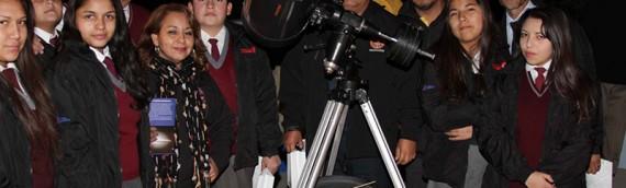 Taller de astronomía con ex-alumnos de la academia de Baquedano