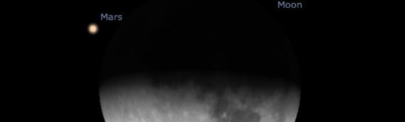¡La Unidad de Astronomía te invita a observar una conjunción cercana entre Marte y la Luna!