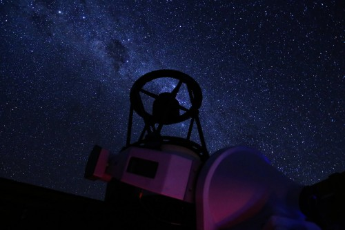 Chakana Telescope under the Milky Way. Credit: U. de Antofagasta / F. Char.