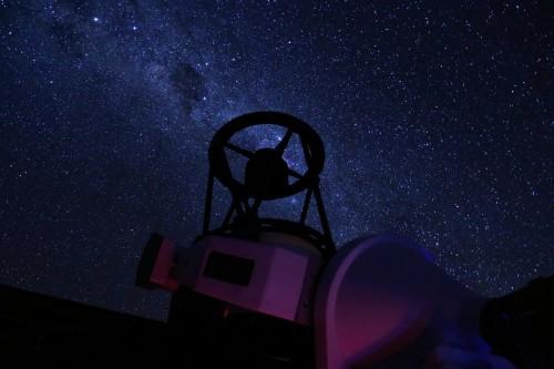Chakana Telescope under the Milky Way. Credit: U. de Antofagasta / F. Char.