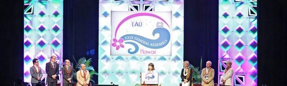 Unidad de Astronomía participa en la Asamblea General de la Unión Astronómica en Hawaii