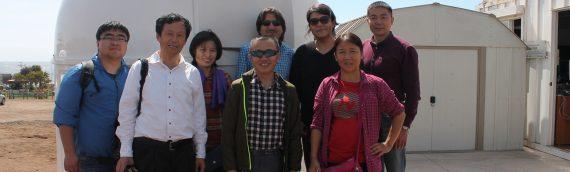 Astrónomos chinos visitan nuestra Unidad
