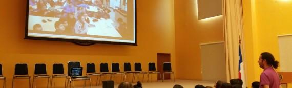 Videoconferencia entre estudiantes del colegio AIS y astrónomos de la SFU