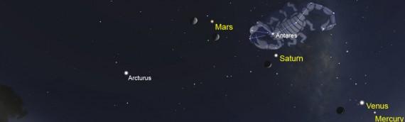 5 planetas serán visibles en nuestros cielos hasta mediados de febrero